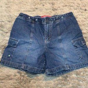 💋 4/$30 Gloria Vanderbilt high waist shorts denim